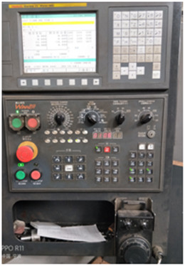 Control panel of vertical machining center